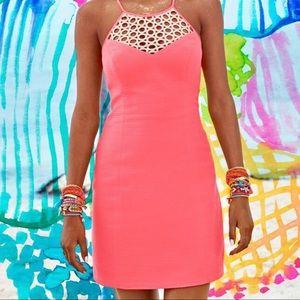 Lilly Pulitzer larina pink sun dress size 4